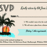 Retro Palm Trees RSVP additional 1