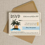 Retro Palm Trees RSVP additional 4