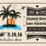 Retro Palm Trees Save the Date additional 4