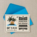 Retro Palm Trees Save the Date additional 3