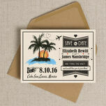 Retro Palm Trees Save the Date additional 1