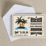Retro Palm Trees Save the Date additional 2