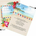 Tropical Beach Flowers Postcard Wedding Invitation additional 3