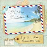 Tropical Beach Postcard Wedding Invitation additional 2