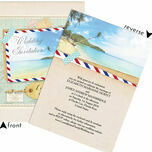 Tropical Beach Postcard Wedding Invitation additional 3