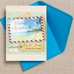 Tropical Beach Postcard Wedding Invitation additional 1