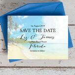 Tropical Beach Postcard Save the Date additional 1