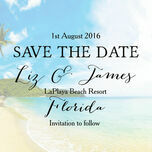Tropical Beach Postcard Save the Date additional 5