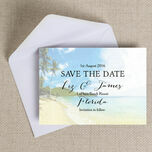 Tropical Beach Postcard Save the Date additional 2