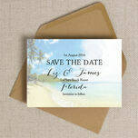 Tropical Beach Postcard Save the Date additional 4