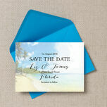 Tropical Beach Postcard Save the Date additional 3