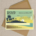 Tropical Beach Sunset RSVP additional 5