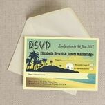 Tropical Beach Sunset RSVP additional 2