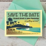 Tropical Beach Sunset Save the Date additional 2