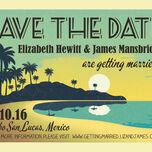 Tropical Beach Sunset Save the Date additional 6