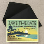 Tropical Beach Sunset Save the Date additional 3
