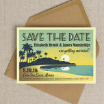 Tropical Beach Sunset Save the Date additional 1