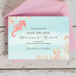 Tropical Coral Save the Date additional 2
