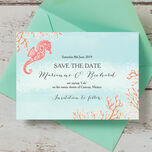 Tropical Coral Save the Date additional 1