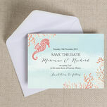 Tropical Coral Save the Date additional 3