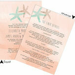Tropical Watercolour Starfish Wedding Invitation additional 3