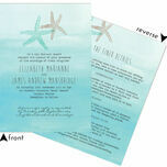 Tropical Watercolour Starfish Wedding Invitation additional 4