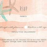 Tropical Watercolour Starfish RSVP additional 2