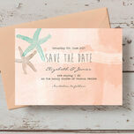 Tropical Watercolour Starfish Save the Date additional 6