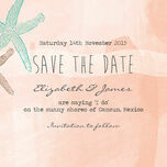 Tropical Watercolour Starfish Save the Date additional 5