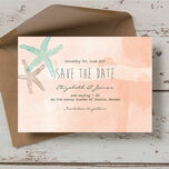Tropical Watercolour Starfish Save the Date additional 1