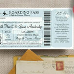 Boarding Pass Travel Themed Wedding Invitation additional 4