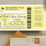 Boarding Pass Travel Themed Wedding Invitation additional 6