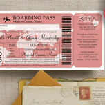 Boarding Pass Travel Themed Wedding Invitation additional 8