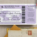 Boarding Pass Travel Themed Wedding Invitation additional 5
