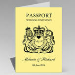 Passport Travel Themed Wedding Invitation additional 4