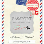 Vintage Airmail Passport Wedding Invitation additional 5
