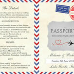Vintage Airmail Passport Wedding Invitation additional 3