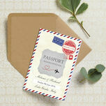 Vintage Airmail Passport Wedding Invitation additional 1