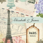 Vintage Paris Postcard Wedding Invitation additional 5