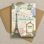 Vintage Paris Postcard Wedding Invitation additional 2