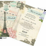 Vintage Paris Postcard Wedding Invitation additional 4