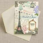 Vintage Paris Postcard Wedding Invitation additional 3