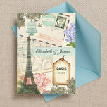 Vintage Paris Postcard Wedding Invitation additional 1