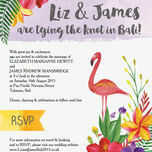 Tropical Flamingo Wedding Invitation additional 2