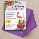 Tropical Flamingo Wedding Invitation additional 1