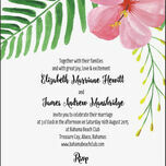 Tropical Flower Destination Wedding Invitation additional 2