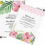 Tropical Flower Destination Wedding Invitation additional 3