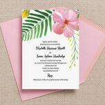 Tropical Flower Destination Wedding Invitation additional 1