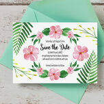 Tropical Flower Save the Date additional 2