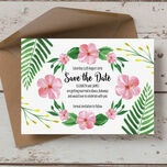 Tropical Flower Save the Date additional 3